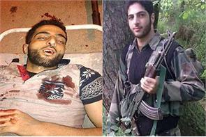 burhan wani was killed in the house the mob set ablaze