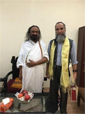 terror burhan wani father met to sri sri ravi shankar