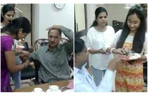 delhi commission for women celebrated raksha bandhan with acb official