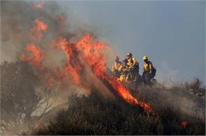 california still uncontrollable forest fire