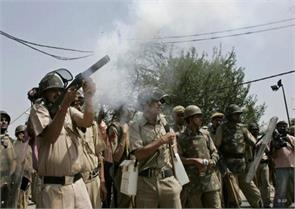 major terror crackdown on outskirts of hyderabad exchange of fire still on