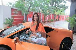 bjp mla wife gets a lamborghini crashes it into an autorickshaw