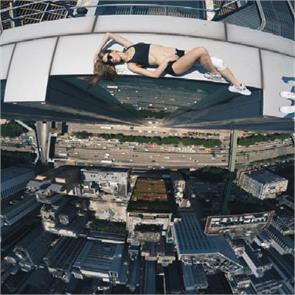 russian girl takes the riskiest selfies