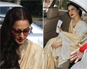 actor rekha attends rajya sabha monsoon session