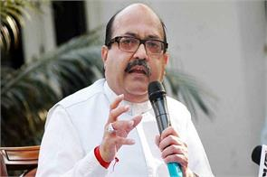 sp has stopped fighting amar singh said the resignation threat