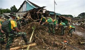 floods landslides leave 36 dead in indonesia