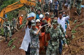 landslides in china 3 killed over 26 still missing