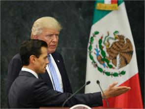 trump says he didnt discuss border wall payment with mexican president