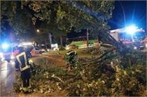 6 people died due to sharp storm in germany rail services canceled