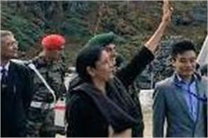 nathla sitharaman reached nathula border