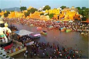 deepawali ten lakh pilgrims plunge into mandakini in chitrakoot
