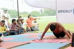 up s ashwini scored record of putting 2760 push ups in an hour