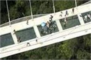 china glass bridge broking video viral