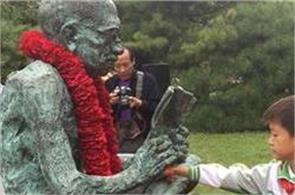 china celebrates gandhi jayanti