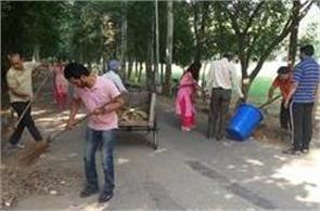 cleanliness drive run by teachers and traders