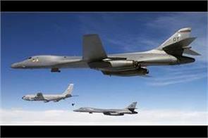 us bombers practice guam on the korean peninsula
