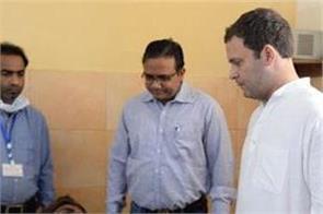 ntpc incident rahul priyanka reached hospital to meet injured