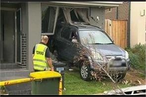 baby girl escape as car ploughed in home