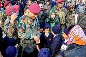 dhoni visited army public school
