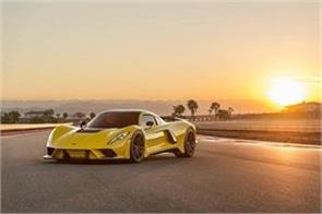 less than 10 seconds the speed of 300 kmph is captured by the venom f5 car