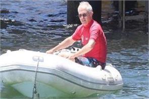 australia  s prime minister gets life jacket for not wearing jacket