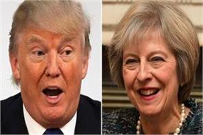 trump theresa may discusses west asia white house