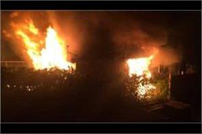 police building gutted in fire