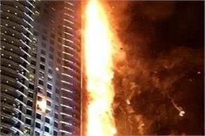 a fire in a building apartment in china