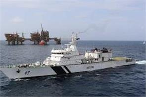 two inspection boats carrying siege to indian coast guard