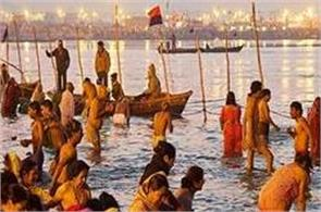 millions of devotees took a dip at sangam on makar sankranti