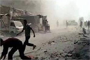 12 militants killed in air strike in syria