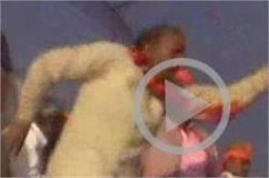 bjp leader stage dance viral