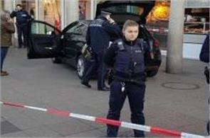heidelberg car attack attacker shot driving vehicle pedestrians three injured