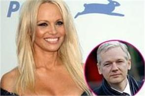 wikileaks founder assange dating with tv star pamela anderson