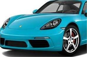 porsche launches 718 cayman boxster priced up to rs 85 53 lakh