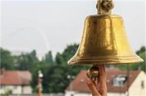 why do people ring a bell on entering a mandir