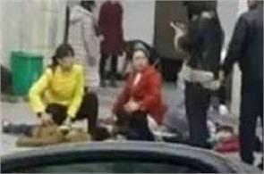 two killed over 20 injured in stampede at chinese school