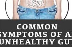 common symptoms of an unhealthy gut