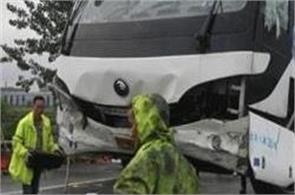 10 dead  38 injured in china bus  truck collision