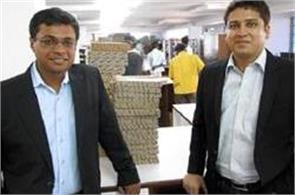 co founders of flipkart  out of   100 million club