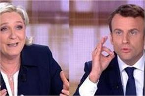 marine and macron go on the attack in final presidential debate