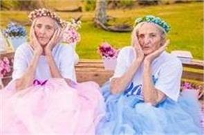 twin sisters celebrate 100th birthday with stunning photo shoot