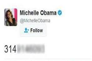 michelle obama accidentally shares a phone number on twitter