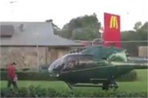 hungry pilot lands helicopter at fast food chain in sydney