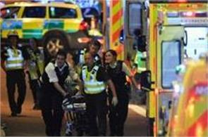british police officer armed with a baton with three terrorists london attacks