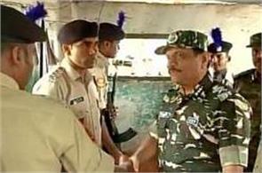 dg crpf rajeev rai bhatnagar visits kashmir