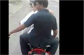 jai shree ram written behind bike on which rahul was going to mandsaur