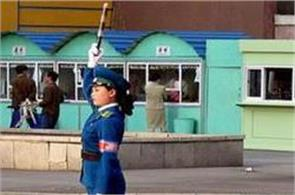 female traffic cops recruited for looks in north korea