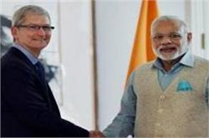 apple gives modi the information about the made in india iphone