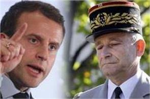 head of french military quits after row with emmanuel macron
